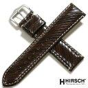 【ヒルシュ】リベッタ カーフ ダークブラウン (日本限定モデル) 時計ベルト