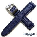 【モレラート】HILTON(ヒルトン)スウォッチ用ラバー ダークブルー 17mm 時計ベルト
