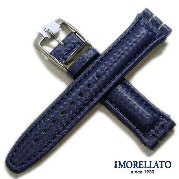 【モレラート】SHERATON シェラトン スウォッチ用 ラバー ダークブルー 20mm 時計ベルト 時計バンド