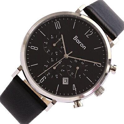 BARON/バロンBR-MJ001腕時計/レザーベルト/メンズ/ブラック【あす楽対応_東海】