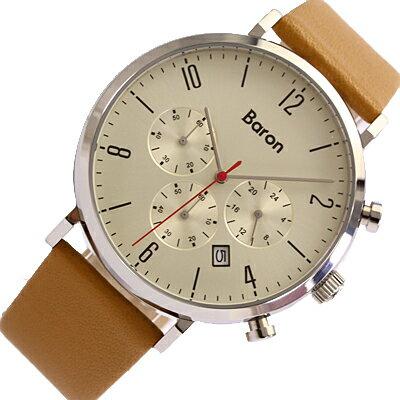BARON/バロンBR-MJ003腕時計/レザーベルト/メンズ/ライトブラウン【あす楽対応_東海】