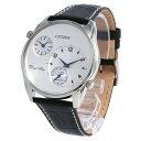 CITIZEN / シチズン AO3030-24A 腕時計 メンズ デュアルタイム レザー シルバー ブラック 【あす楽対応_東海】
