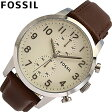 FOSSIL / フォッシル FS4872腕時計/レザーベルト/メンズTownsman Chronograph  【あす楽対応_東海】