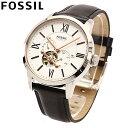 FOSSIL / フォッシル ME3104 Townsman Automatic Black Leather Strap メンズ Watch 腕時計 自動巻き オートマチック 【あす楽対応_東海】