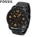 FOSSIL / フォッシル JR1356 Nate / ネイト ブラック ステンレス 腕時計 メンズ 【あす楽対応_東海】