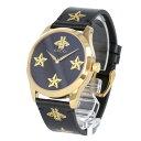 GUCCI / グッチ YA1264055A I G-TIMELESS G-タイムレス 腕時計 メンズ レディース ユニセックス ブラック ゴールド レザー STAR&BEE スター 星 ハチ 【あす楽対応_東海】