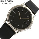 SKAGEN/スカーゲン858XLSLB レザー ブラック ユニセックス/ 腕時計 ユニセックス【あす楽対応_東海】