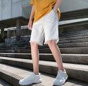 ショッピングダメージ 夏メンズ ショートパンツ デニム   無地 コットン 短パン チェックパンツ膝上 ひざ上 ゆったり 大きいサイズ  ダメージ加工