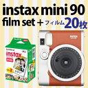 富士フイルム チェキ instax mini90 ネオクラシック ブラウン+フィルム20枚付
