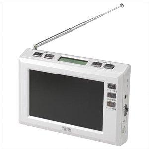ヤザワ 4.3インチディスプレイ ワンセグラジオ ホワイト YAZAWA TV03WH