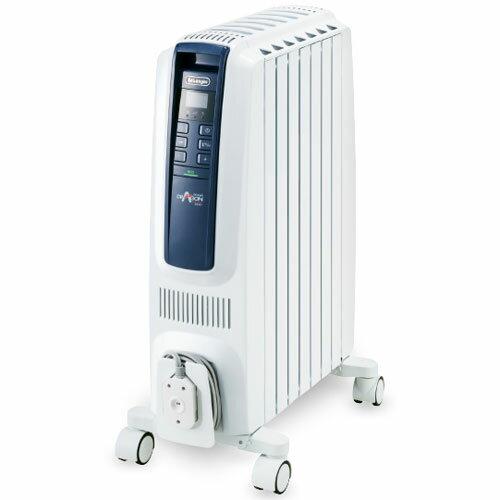 デロンギ QSD0712-MB(ピュアホワイト+ブルー) ドラゴンデジタルスマート オイルヒーター 1200W