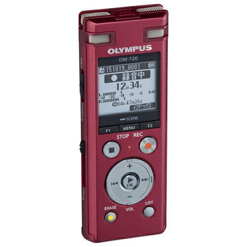 オリンパス DM-720-RED(レッド) Voice-Trek ICレコーダー 4GB