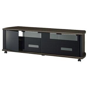 ハヤミ工産 TV-MS140H(ダークブラウン木目×グレーガラ