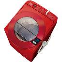 【設置】アクア AQW-LV800F-R(シャイニーレッド) SLASH 全自動洗濯機 上開き 洗濯8kg/風乾燥3kg