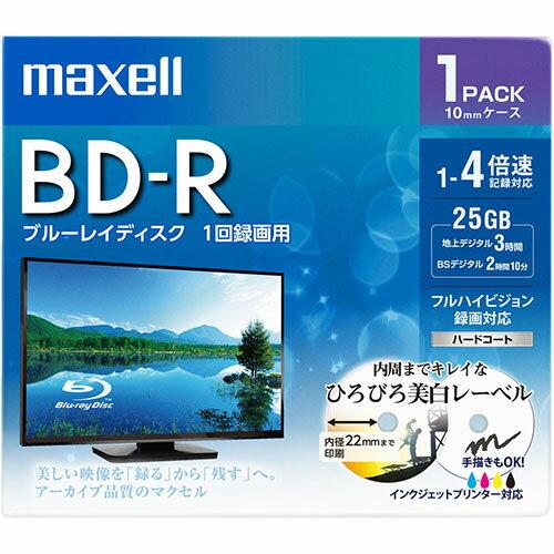 マクセル BRV25WPE.1J 録画・録音用 BD-R 25GB 一回(追記) 録画 プリンタブル 4倍速 1枚