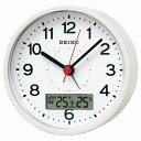 セイコー KR333W(白パール) 電波目覚まし時計 スタンダード
