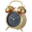 芳国産業 YT5229GD(ゴールド) クォーツ 目覚まし時計 カンパネラ