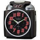 芳国産業 YT5243BK(黒) クォーツ 目覚まし時計 ガチベル