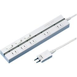 サンワサプライ TAP-2531EW(ホワイト) 電源タップ 2ピン5個口 2m