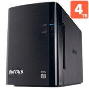 バッファロー 外付けハードディスク HDD 4TB USB3.0接続 RAID対応 2ドライブ HD-WL4TU3/R1J