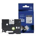 ブラザー TZe-145 ピータッチ ラミネートテープ 白文字/透明 18mm