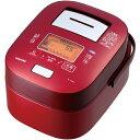 【長期保証付】東芝 RC-10VXK-R(グランレッド) 鍛造かまど本丸鉄釜 真空圧力IH炊飯器 5.5合