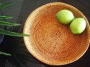 アタ製 平かご皿/味わい模様【直径24cm】