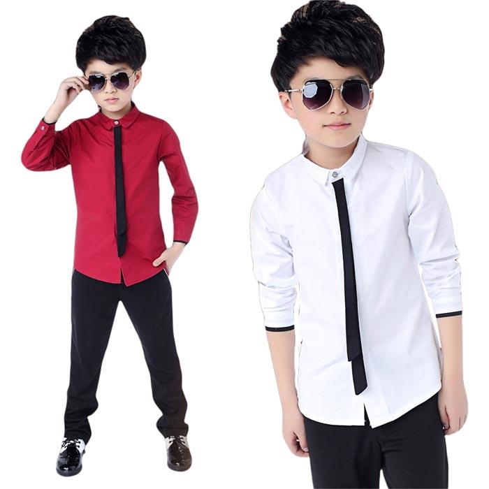 フォーマル・ドレスシャツ子供服男の子キッズジュニア卒業入学式発表会韓国子供服男の子シャツ入学式男の子