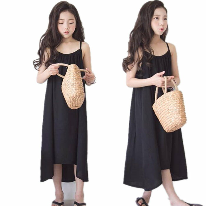 夏着韓国子供服女の子ワンピース女児サスペンダースカートキッズこども服ノースリーブワンピースドレス可愛