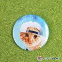 【メール便対応可】缶バッジ『SYARENEKO つくし』猫/ねこ/直径6.5cm/ファッション/かわいい/おもしろ/おしゃれ/ギフト/贈り物/動物/と..
