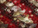 京西陣・金襴 生地 扇面に小桜 (和布 和生地 和柄生地 和柄 和風)05P01Oct16