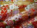 京西陣・金襴 生地 のしに花唐草 (赤)( 金らん 金襴布 和布 和生地 和柄生地 和柄 和風)05P01Oct16