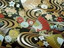 京西陣・金襴 生地 流水に扇 (和布 和生地 和柄生地 和柄 和風)05P01Oct16