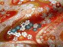 ◆京西陣・金襴 生地 櫻川(赤) 10cm単位 切り売り