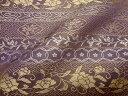 京西陣 正絹 錦裂 紫地唐花文錦 10cm単位 切り売り 布地 和柄 和風 生地 茶 袱紗 仕覆