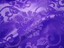 ◆エステル 綸子 りんず 牡丹(紫) 50cm単位 切り売り 布地 和柄 生地 花柄