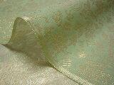 正絹 紗 箔入 糊付 菊牡丹唐草(緑) (和布 和生地 和柄生地 和柄 和風)05P01Mar15