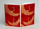 御朱印帳 松鶴宴(赤・金)(和布 和生地 和柄生地 和柄 和風)05P01Oct16