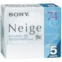 ソニー MD(ミニディスク) 74分 ネージュシリーズ 5枚パック 5MDW74NED Sony