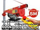 家庭用100V電動ウインチ(ホイスト)600kg+フレームセット