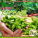 送料無料 訳ありだだちゃ豆 1kg ご家庭用 ※枝豆、えだま...