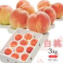 送料無料 白桃 約3kg(10-12玉前後)中玉 ※もも、桃...