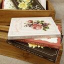 【メール便可能】【東京アンティーク雑貨文具】●お花の文庫本スタイルノート
