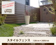 【目隠しフェンス】スタイルフェンス L2000 (単品部材)【人工ウッド 樹脂製】