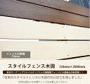 楽天東京ガーデニングスタイル新発売商品!【目隠しフェンス】商品名:スタイルフェンス木調 L2000(単品部材)横張り【人工ウッド 樹脂フェンス フェンス横張り】