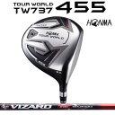 本間ゴルフ ツアーワールド TW737 455 TOUR WORLDTW737 455ドライバー VIZARD EX-C65シャフト