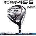 本間ゴルフ ツアーワールド TW737 455 TOUR WORLDTW737 455ドライバー VIZARD EX-Z65シャフト