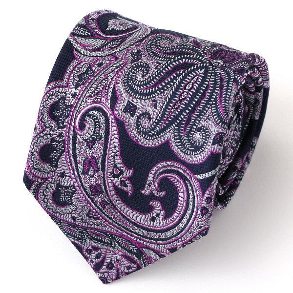 ネクタイ 無地 パープル 紫色 日本製 シルク100% 結婚式 プレゼント フォーマル Franco Spada(フランコ スパダ)