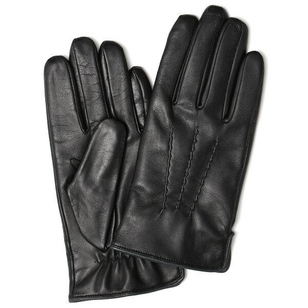 手袋 メンズ 本革 レザー ブラック 日本製 手袋 ラムスキン(羊革) グローブ KURODA(クロダ)
