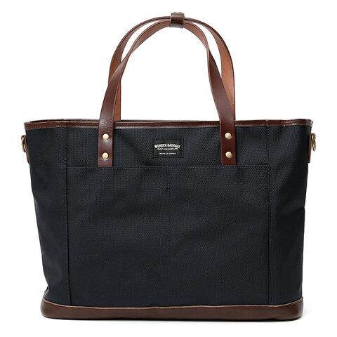 トートバッグ メンズ 本革 日本製 ブランド チョコ ブラウン 茶 茶色 バリスティックナイロン ビジネスバッグ レディース レザー 鞄 カバン おしゃれ 大人 かわいい ワンダーバゲージ(WONDER BAGGAGE)
